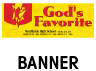 God's Favorite Outdoor Banner