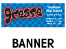 Grease Outdoor Banner