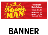Music Man Outdoor Banner