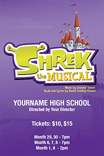 Shrek the Musical poster template