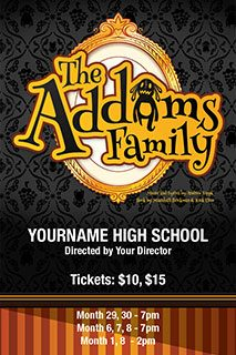 The Addams Family Musical poster